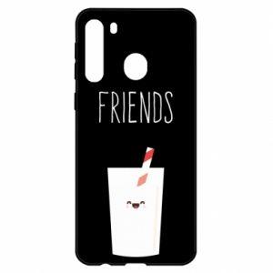 Etui na Samsung A21 Friend milk