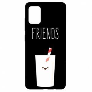 Etui na Samsung A51 Friend milk