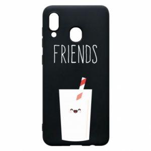 Etui na Samsung A20 Friend milk