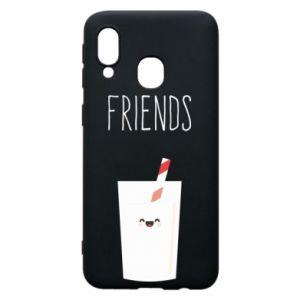Etui na Samsung A40 Friend milk