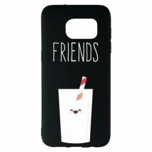 Etui na Samsung S7 EDGE Friend milk