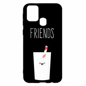 Etui na Samsung M31 Friend milk