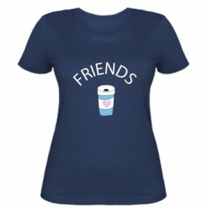 Women's t-shirt Friends coffee