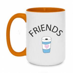 Kubek dwukolorowy 450ml Friends coffee