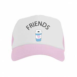Czapka trucker dziecięca Friends coffee