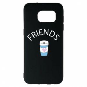 Etui na Samsung S7 EDGE Friends coffee