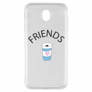 Etui na Samsung J7 2017 Friends coffee