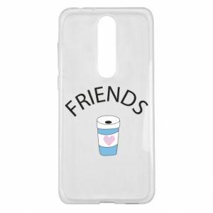 Etui na Nokia 5.1 Plus Friends coffee