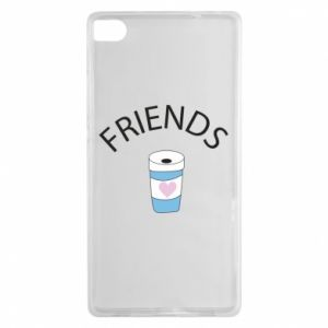 Etui na Huawei P8 Friends coffee