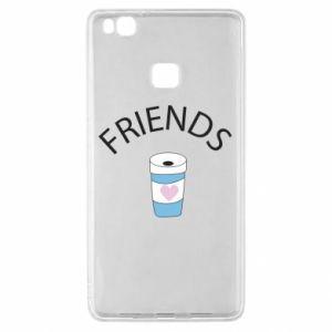 Etui na Huawei P9 Lite Friends coffee