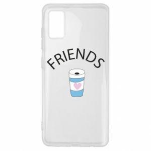 Etui na Samsung A41 Friends coffee