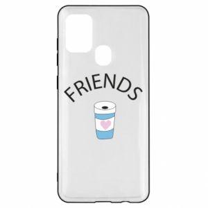 Etui na Samsung A21s Friends coffee