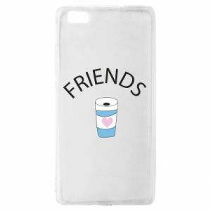 Etui na Huawei P 8 Lite Friends coffee