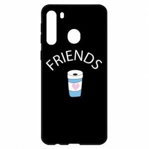 Etui na Samsung A21 Friends coffee