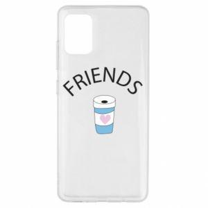 Etui na Samsung A51 Friends coffee