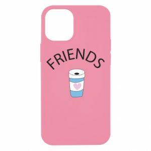 Etui na iPhone 12 Mini Friends coffee
