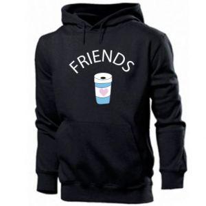 Męska bluza z kapturem Friends coffee
