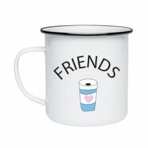 Kubek emaliowany Friends coffee