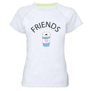 Koszulka sportowa damska Friends coffee