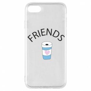 Etui na iPhone 7 Friends coffee