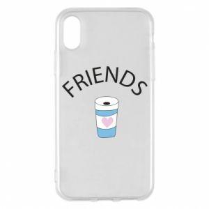 Etui na iPhone X/Xs Friends coffee
