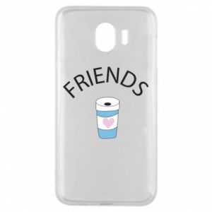 Etui na Samsung J4 Friends coffee