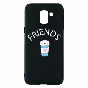 Etui na Samsung J6 Friends coffee