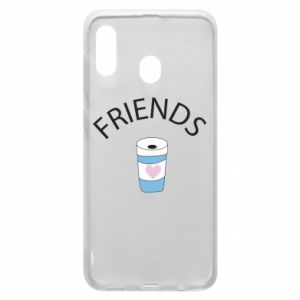 Etui na Samsung A20 Friends coffee