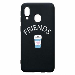 Etui na Samsung A40 Friends coffee