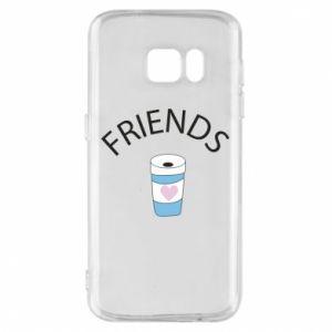 Etui na Samsung S7 Friends coffee
