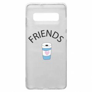 Etui na Samsung S10+ Friends coffee