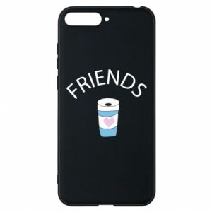 Etui na Huawei Y6 2018 Friends coffee