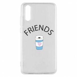 Etui na Huawei P20 Friends coffee