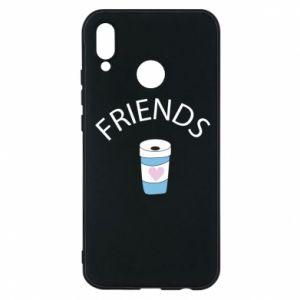 Etui na Huawei P20 Lite Friends coffee