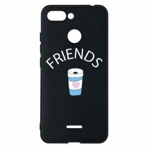 Etui na Xiaomi Redmi 6 Friends coffee