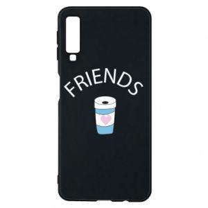 Etui na Samsung A7 2018 Friends coffee