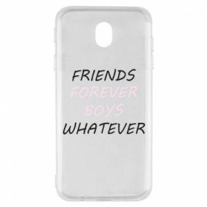 Etui na Samsung J7 2017 Friends forever boys whatever