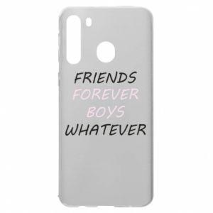 Etui na Samsung A21 Friends forever boys whatever
