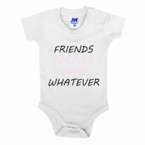 Baby bodysuit Friends forever boys whatever