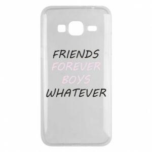 Etui na Samsung J3 2016 Friends forever boys whatever