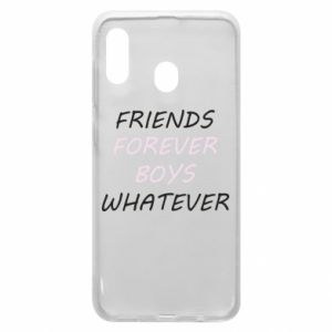 Phone case for Samsung A30 Friends forever boys whatever