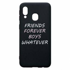 Phone case for Samsung A40 Friends forever boys whatever