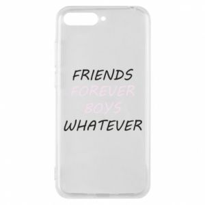 Phone case for Huawei Y6 2018 Friends forever boys whatever