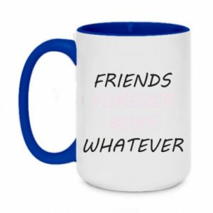 Two-toned mug 450ml Friends forever boys whatever