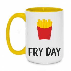 Kubek dwukolorowy 450ml Fry day