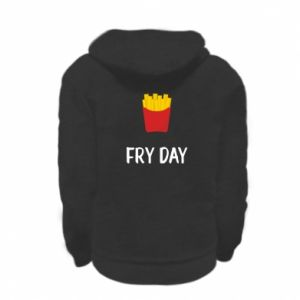 Kid's zipped hoodie % print% Fry day