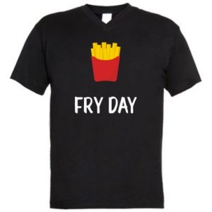 Men's V-neck t-shirt Fry day