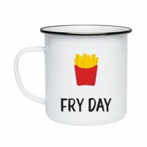 Enameled mug Fry day