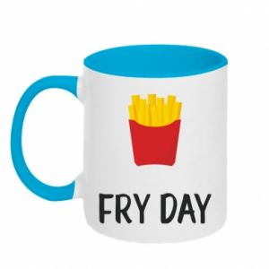 Two-toned mug Fry day