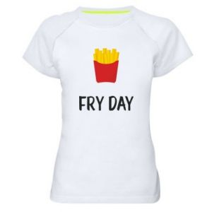 Women's sports t-shirt Fry day